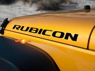 2 Jeep Rubicon Wrangler JK Haubenaufkleber Aufkleber