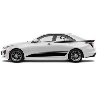 Kit des neuen Aufklebertür-Klassiker-Aufkleber-Streifens und SEEDE-Akzent breit für Cadillac CT4