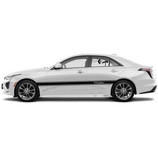 2 neue Aufkleber-Aufkleber Stilvolle Türen Akzent Zwei Trimmlinien Vinyl-Aufkleber für Cadillac CT4