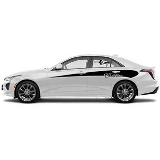 2 neue Aufkleber-Aufkleber Stilvolle Tore Akzent Side Wrap Vinyl Aufkleber für Cadillac CT4