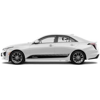 2 neue Aufkleber-Aufkleber Stilvolle Türen Akzent-Ziergrenzen-Grenzlinien Pockennark-Wrap Vinyl-Aufkleber für Cadillac CT4