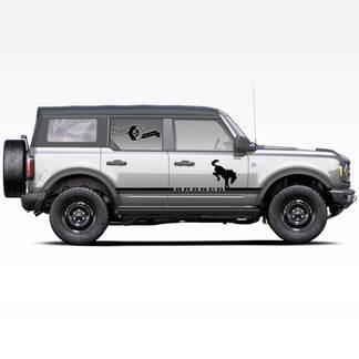 Paar Bronco Hengst Hengst Logo Side Streifen Aufkleber Aufkleber für Ford Bronco 2021