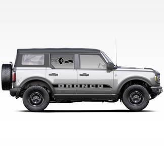 Paar Stripe Bronco-Trim-Seitenaufkleber Aufkleber für Ford Bronco 2021