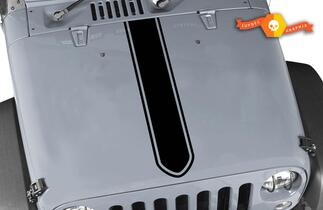 Jeep Wrangler Rubicon  Hood Stripe  Sticker Decal