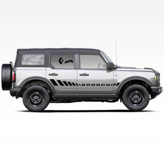 Paar Bronco-Seitentüren Streifen Aufkleber Aufkleber für Ford Bronco 2021