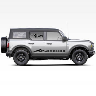Paar Bronco-Side-Gebirgs-Türen Streifen Abziehbilder Aufkleber für Ford Bronco 2021