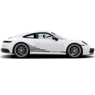 Porsche Stickers Stripes Porsche 911 Doors Wrap Carrera  Side Decal Sticker