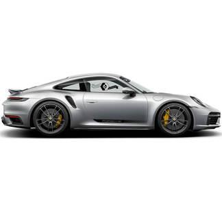 Porsche 911 Carrera Classic Side Stripes Doors Kit Decal Sticker