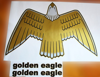 JEEP CJ7 1977-80 Golden Eagle Gold Hood Bird Decals Kit