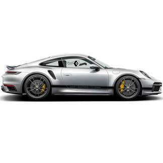 2 Porsche 911 Porsche Carrera Classic Side Trim Line Streifen Türen Kit Aufkleber Aufkleber