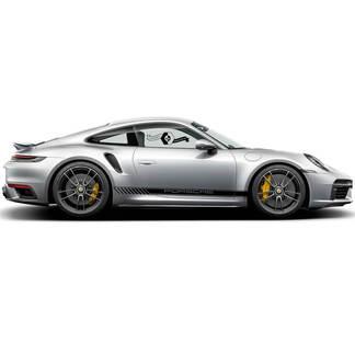 2 Porsche 911 Porsche Up Center Carrera Classic Side Stripes Türen Kit Aufkleber