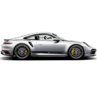 2 Porsche 911 Porsche Modern Center Carrera Classic Side Stripes Türen Kit Aufkleber
