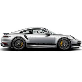 2 Porsche 911 Retro Carrera Klassische Seitenstreifen Türen Kit Aufkleber Aufkleber