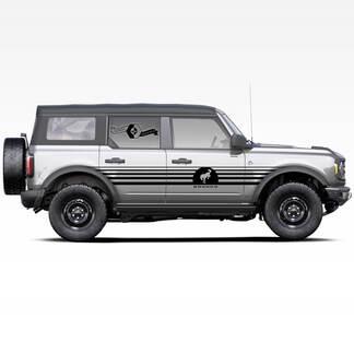 Paar Bronco Hengst Hengst Logo Streifen Seitentüren Streifen Aufkleber Aufkleber für Ford Bronco 2021