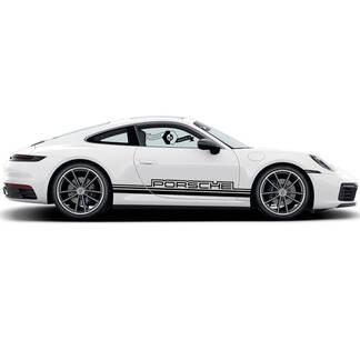 2 Porsche 911 Porsche Carrera Rocker Panel outline Side Stripes Doors Kit Decal Sticker