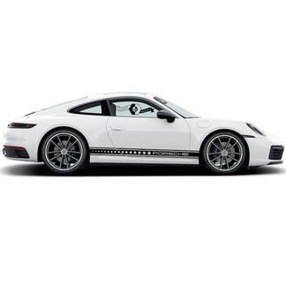 2 Porsche 911 Porsche Carrera Rocker Panel square Side Stripes Doors Kit Decal Sticker