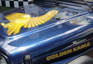 Jeep Wrangler Golden Eagle Hood Aufkleber