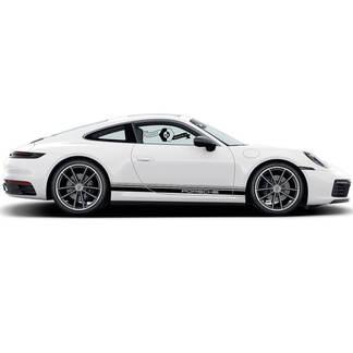 2 Porsche 911 Porsche Carrera Rocker Panel Many Lines Side Stripes Doors Kit Decal Sticker
