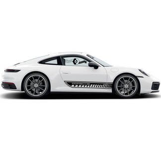 2 Porsche 911 Porsche Carrera Rocker Panel Side Stripes Doors Trim Kit Decal Sticker