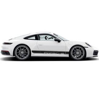 2 Porsche 911 Porsche Carrera Rocker Panel Lines Trim Side Stripes Doors Kit Decal Sticker