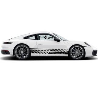 2 Porsche 911 Porsche Carrera Rocker Panel Many Sloping Lines Side Stripes Doors Kit Decal Sticker