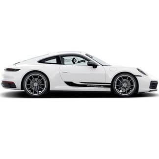 2 Porsche 911 Porsche Carrera Rocker Panel Side Stripes Doors two lines Decal Sticker