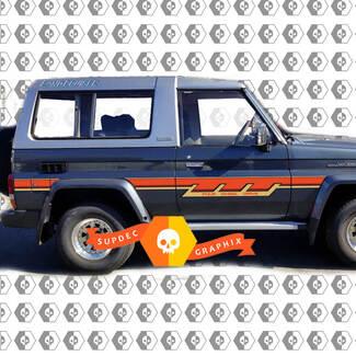 Toyota land cruiser BJ73R 70 Side Retro Vintage Rocker Panel Stripes Decal Graphics