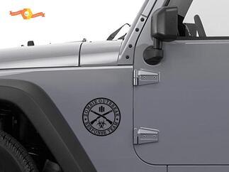 2 ZOMBIE OUTBREAK Response Vehicle Jeep Vinyl Sticker