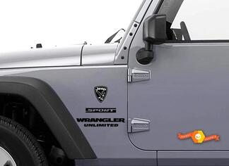 Jeep Wrangler Rubicon Bald Eagle Gray YK JK Vinyl Sticker Decal