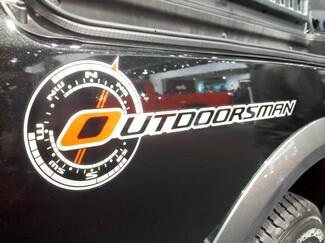 2 Dodge 2011 RAM 1500 Outdoorman Vinyl Decals Aufkleber # 2