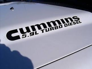 2 5.9 Cummins Turbo Diesel Hood decals sticker Dodge Ram