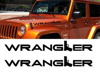 2 Jeep Wrangler GUN Rubicon CJ TJ YK JK XJ Vinyl Stickers Decals