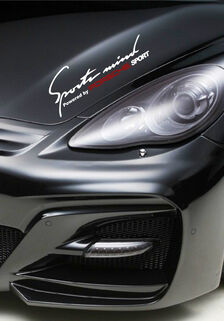 2 Sports mind powered by Porsche Cayenne Panamera Decal sticker
