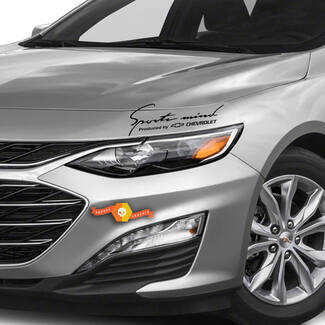 2 Sports Mind Produziert von Chevrolet Racing Decal Aufkleber