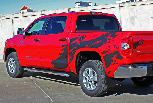 2 side TOYOTA TRD TACOMA mud splash GRAPHICS DECALS  bedside VINYL