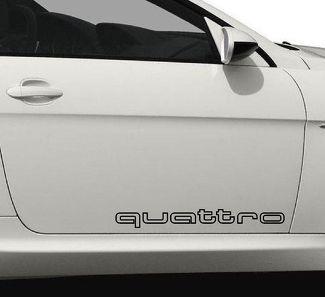 2 QUATTRO OUTLINED AUDI A3 A4 A6 A8 RS3 RS4 Aufkleber Aufkleber