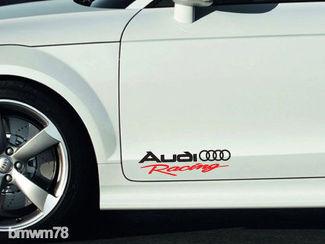 2 AUDI Racing Aufkleber Aufkleber A4 A5 A6 A7 A8 S4 S5 S8 Q5 Q7 RS TT