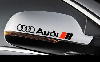 2 AUDI Seitenspiegel Aufkleber RS3 RS4 RS6 A3 A4 A6 A8 TT