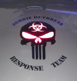Zombie Outbreak Response Team Skull Wrangler Vinyl Sticker Decal