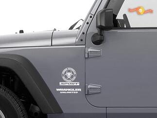 Jeep Rubicon Zombie Outbreak Response Team Wrangler Decal Sticker
