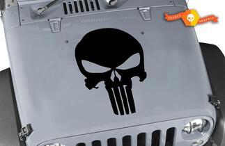 Jeep Rubicon Skull Punisher Wrangler Hood Decal Sticker
