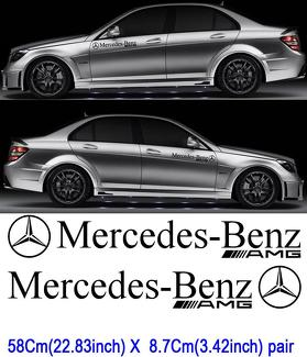 2 Mercedes Benz Motorsport sticker Decal CAR AMG C63 E63 SLK SL6