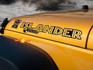 2 Islander Hood Edition Wrangler Rubikon TJ YK JK JL Aufkleber