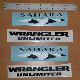 Jeep Sahara Wrangler Unlimited CJ TJ YK JK XJ All Colors Sticker
