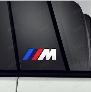 2x BMW M Sticker M3 M5 M7 M1 Racing Decal Emblem Auto