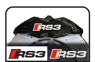 2 x RS3 Stickers Brake Caliper AUDI A3 S3 RS TT S-line decal