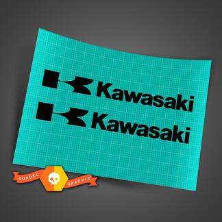 2 KAWASAKI DECAL STICKER