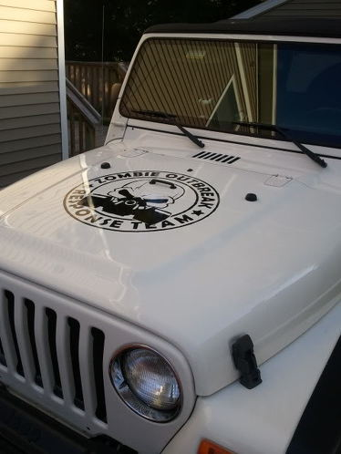 Jeep Rubicon Wrangler Zombie Outbreak Response Team Wrangler Decal#7