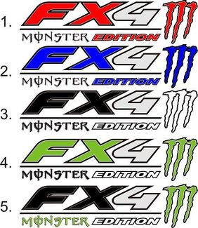 2 FORD FX4 Decals F150 F250 F350 MONSTER Edition TRUCK Vinyl Decal Stickers 18