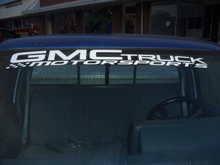 GMC Truck Motorsports windshield topper window decal sticker